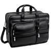 """Clinton Leather Briefcase, Detachable Wheels, Fits 17"""" Laptop"""