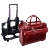 "Lakewood Leather Briefcase, Detachable Wheels, Fits 15"" Laptop"