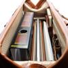 "Morgan Leather Litigator Briefcase, Fits 17"" Laptop"