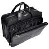 """Walton Leather Expandable Briefcase, Fits 17"""" Laptop"""