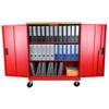 Datum Transport File Cart Mobile Locking Storage, with Binders