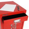 Bisley 10-Drawer Under-Desk Multidrawer Steel Cabinet, Label Insert
