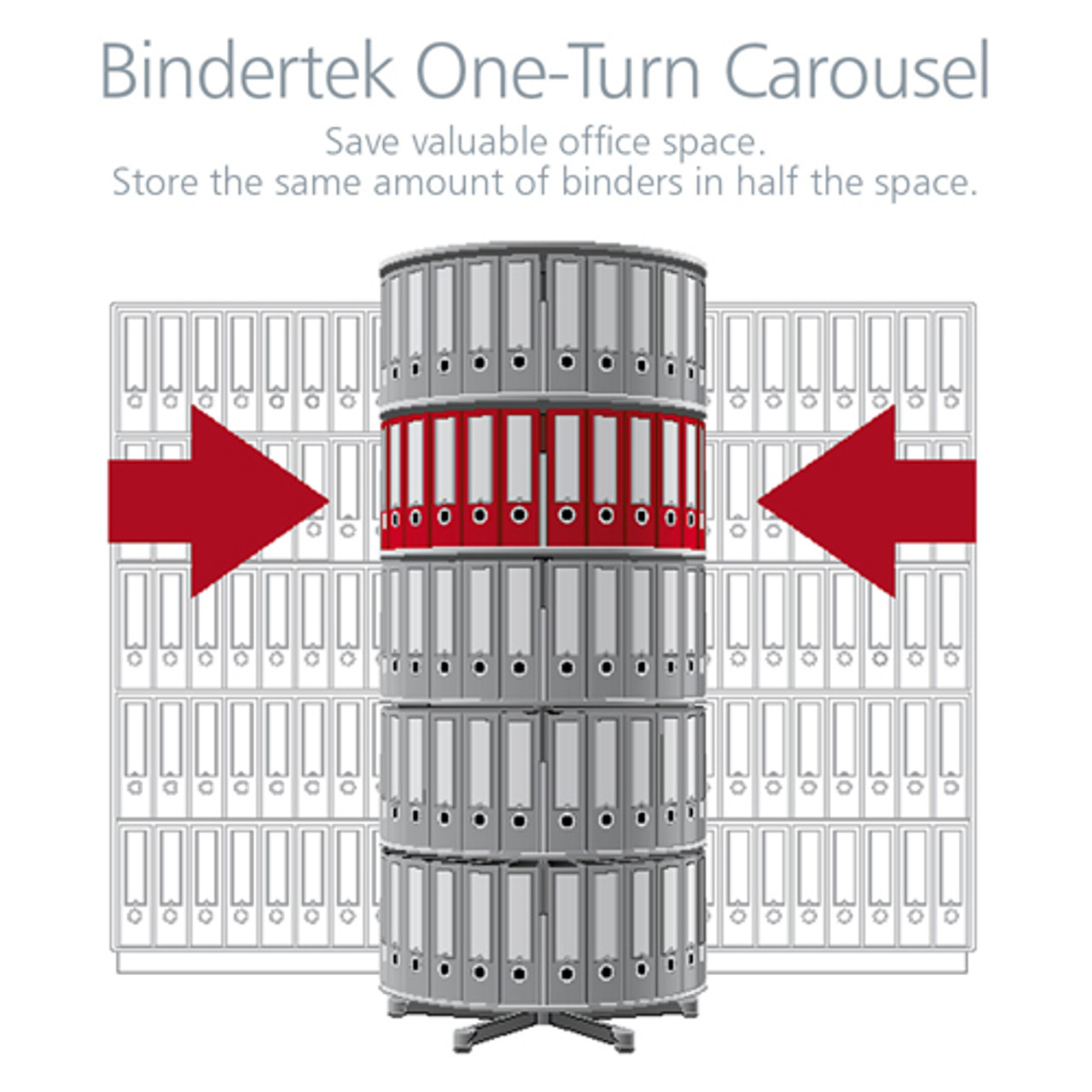 Moll One Turn Binder & File Carousel, 2-Tier Shelving