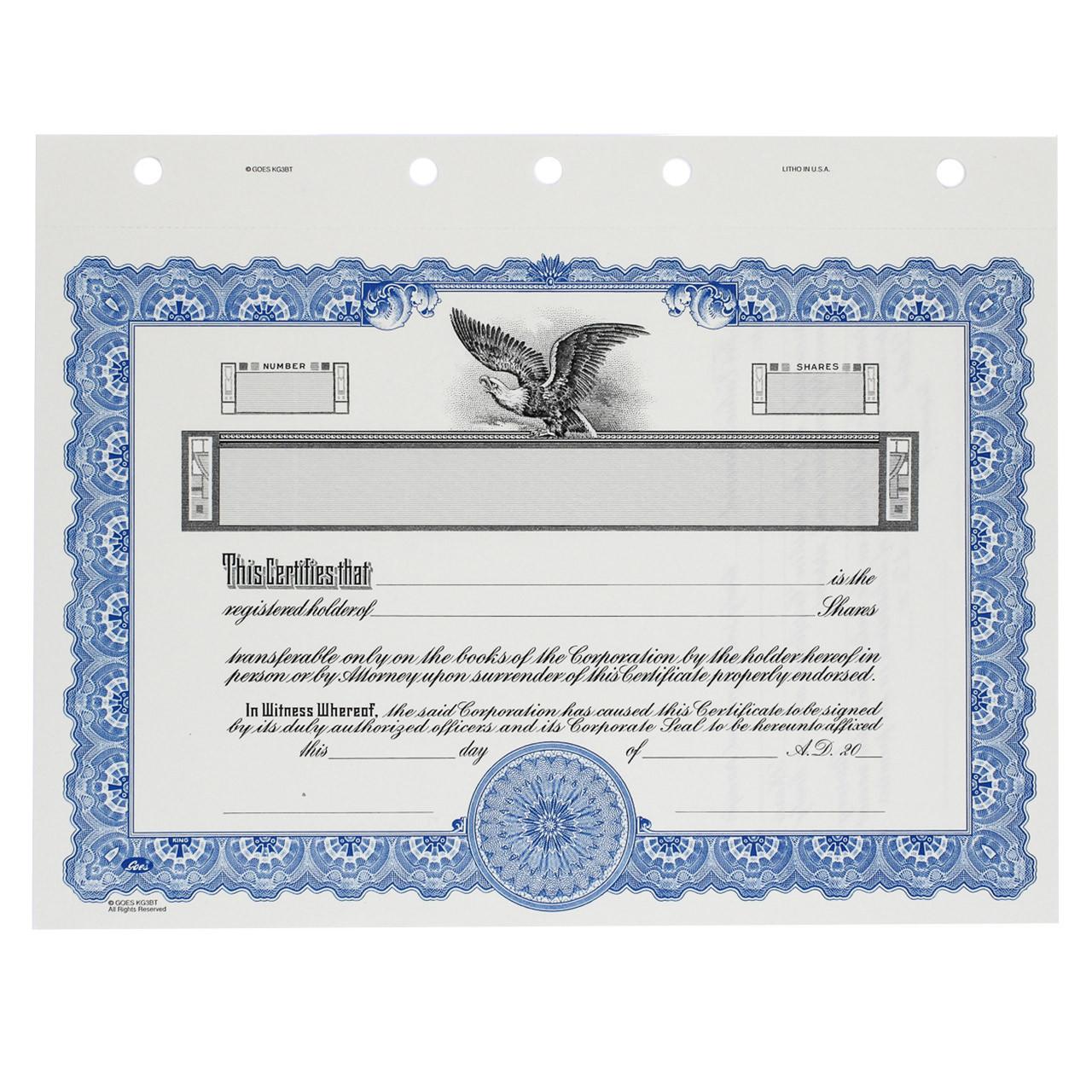 certificates corporate customizable certificate