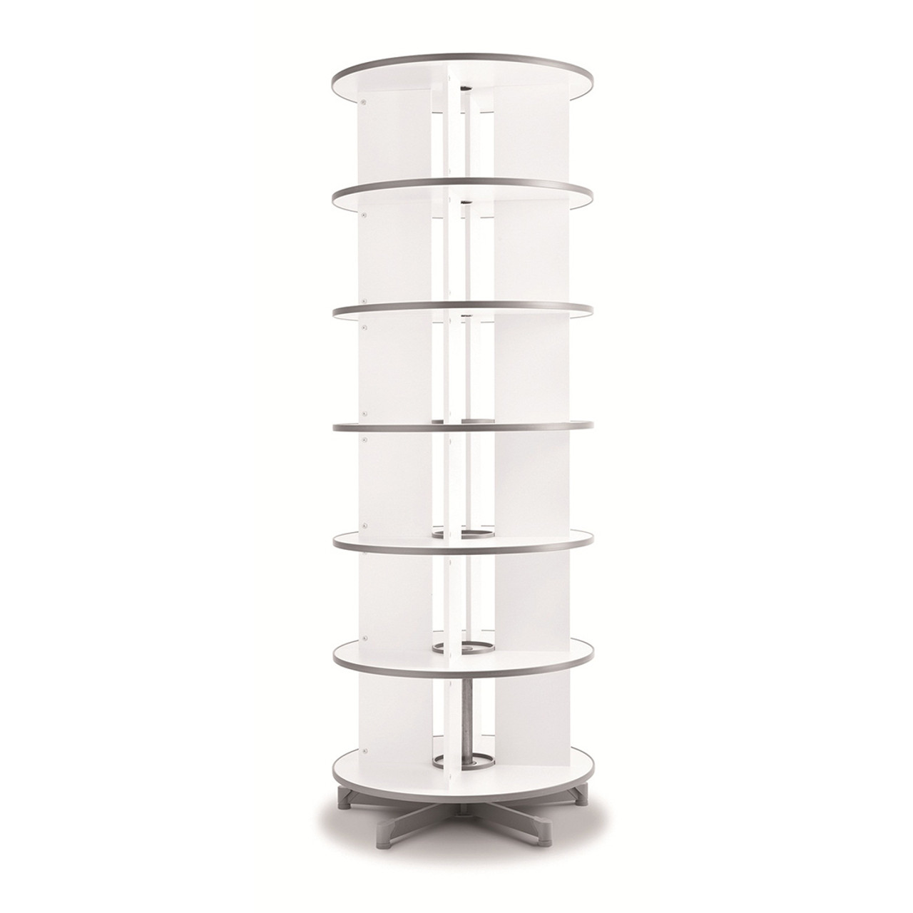 Moll One Turn Binder & File Carousel, 6-Tier Shelving