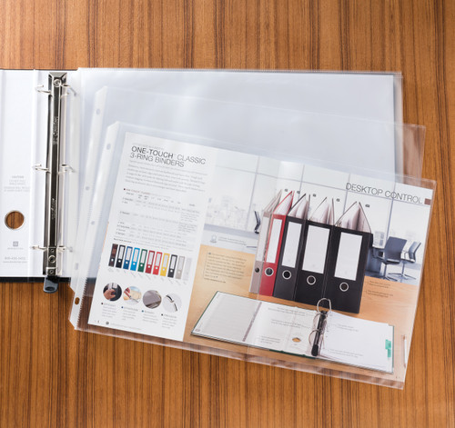 """Sheet Protectors, Ledger Size for 11"""" x 17"""" Paper, 25-Pack"""