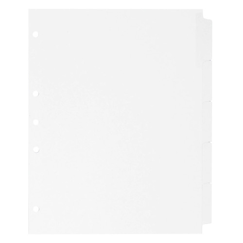 Blank Write-On Index Tab Dividers, 5-Tab Set