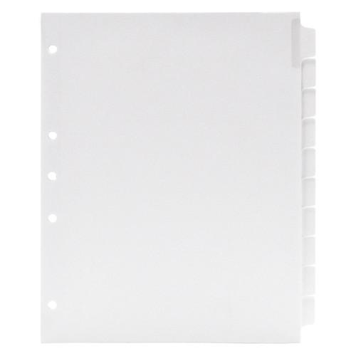 Blank Write-On Index Tab Dividers, 10-Tab Set