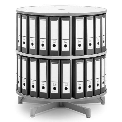 Moll One Turn Binder & File Carousel, 2-Tier Shelving