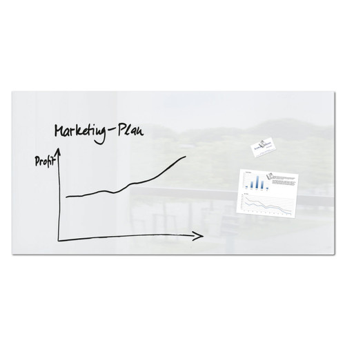 """Sigel Contemporary Magnetic Glass Board, 36"""" x 18"""", White"""