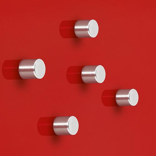 Sigel Cylinder Magnets for Magnetic Glass Boards, 5-Pack