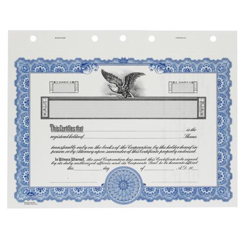 Customizable Corporate Stock Certificates