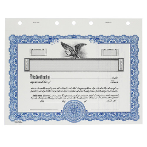 Customizable Corporate Stock Certificates