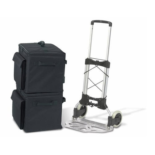 Soft Sided Binder Caddy, Heavy Duty Cart and 2 Cases
