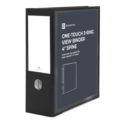"""One-Touch 3-Ring View Binder, 4"""" Spine"""