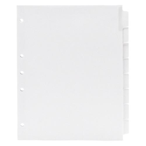 Blank Write-On Index Tab Dividers, 8-Tab Set