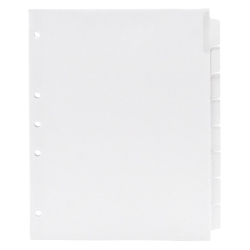 Blank Write-On Index Tab Dividers, 8-Tab Set