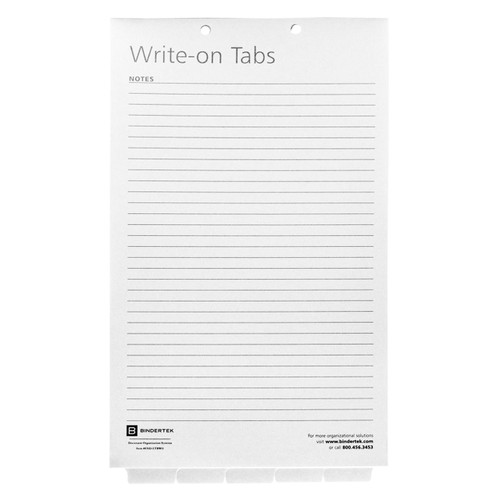Blank Write-On Index Tab Dividers, Legal Size