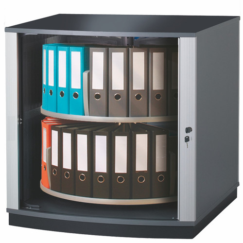 Moll LockFile Binder & File Carousel Cabinet, 2-Tier