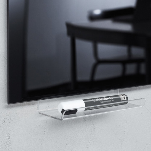 Sigel Acrylic Pen Tray for Magnetic Glass Boards