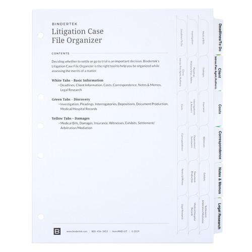 Litigation Index Tab Dividers Set