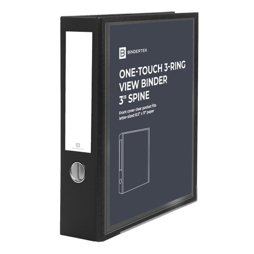 """One-Touch 3-Ring View Binder, 3"""" Spine"""