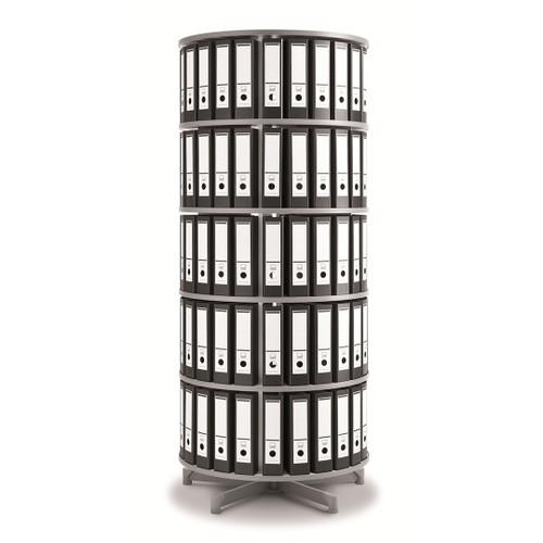 Moll One Turn Binder & File Carousel, 5-Tier Shelving