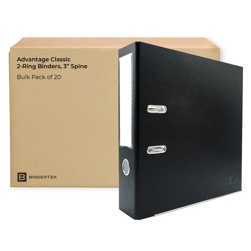 "Advantage Classic 2-Ring Binders, 3"" Spine, Bulk Pack of 20"