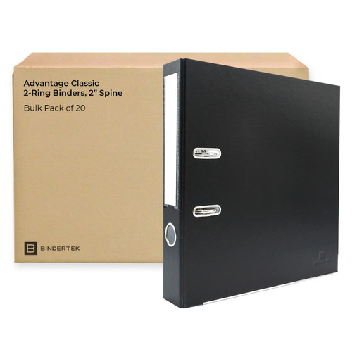 "Advantage Classic 2-Ring Binders, 2"" Spine, Bulk Pack of 20"