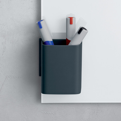 Sigel Clip & Organize Pen Pot for Magnetic Glass Boards