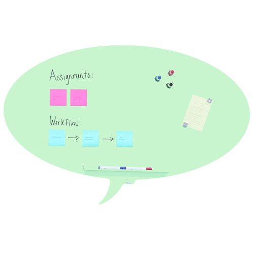 "Rocada Talk Bubble Magnetic Dry Erase Board, 46"" x 30"""