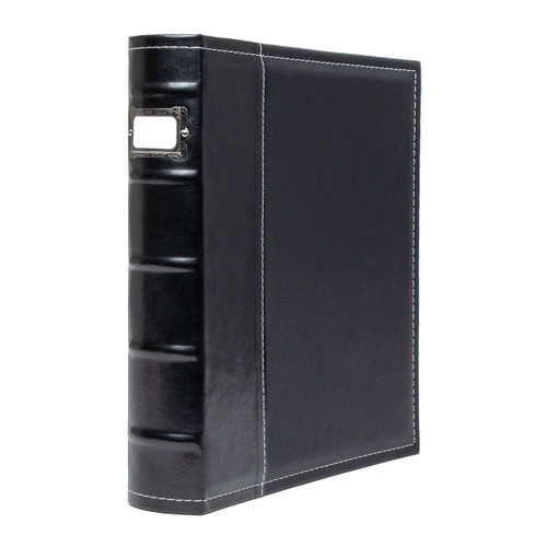 "Bellagio Italia Faux Leather 3 Ring Binder, 2"" Spine"