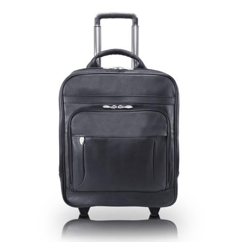 "Wicker Park Leather Backpack, Detachable Wheels, Fits 17"" Laptop"