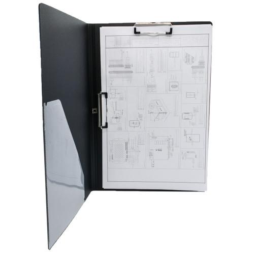 "Folding Double Clip Poly Clipboard, Ledger Size 11"" x 17"""