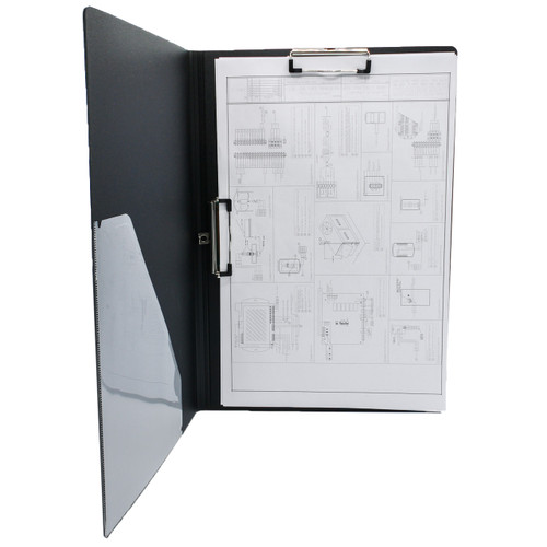 "Folding Double Clip Poly Clipboard, Ledger Size 11"" x 17"""