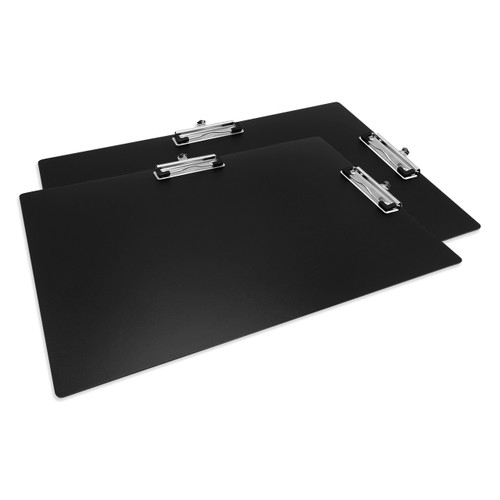 """Double Clip Poly Clipboard, Ledger Size 11"""" x 17"""", 2-Pack"""