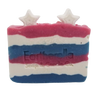 Patriotic Stars & Stripes handmade artisan blend soap bar 6 oz