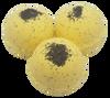"""LEMON POPPYSEED scented giant bath bomb 2.5"""" diameter, 5.8 oz"""