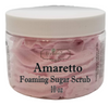 AMARETTO Exfoliating Foaming Sugar Body Scrub, 10 oz jar