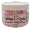 JAMAICA ME CRAZY Exfoliating Foaming Sugar Body Scrub, 10 oz jar