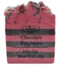 CHOCOLATE RASPBERRY handmade artisan blend soap bar 6.5 oz