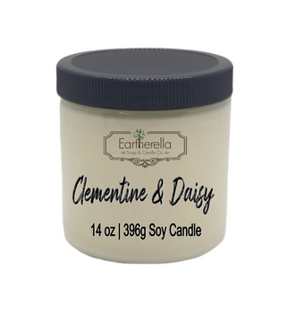CLEMENTINE & DAISY Soy Candle 14 oz jar