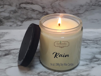 RAIN Soy Candle 14 oz jar