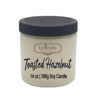 TOASTED HAZELNUT Soy Candle 14 oz jar