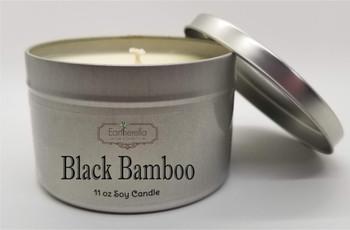 BLACK BAMBOO Soy Candle 11 oz Tin