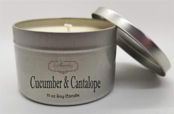 CUCUMBER & CANTALOPE Soy Candle 11 oz Tin