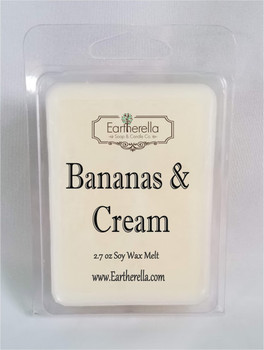 BANANAS & CREAM Soy Melts Tarts 2.7 oz