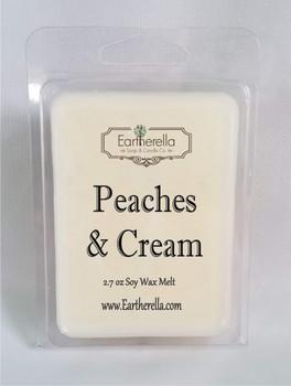 PEACHES & CREAM Soy Melts Tarts 2.7 oz