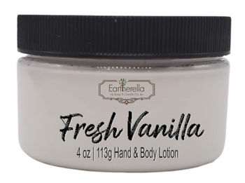FRESH VANILLA Hand & Body Lotion Jar, 4 oz.