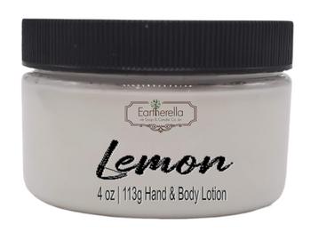 LEMON Hand & Body Lotion Jar, 4 oz.